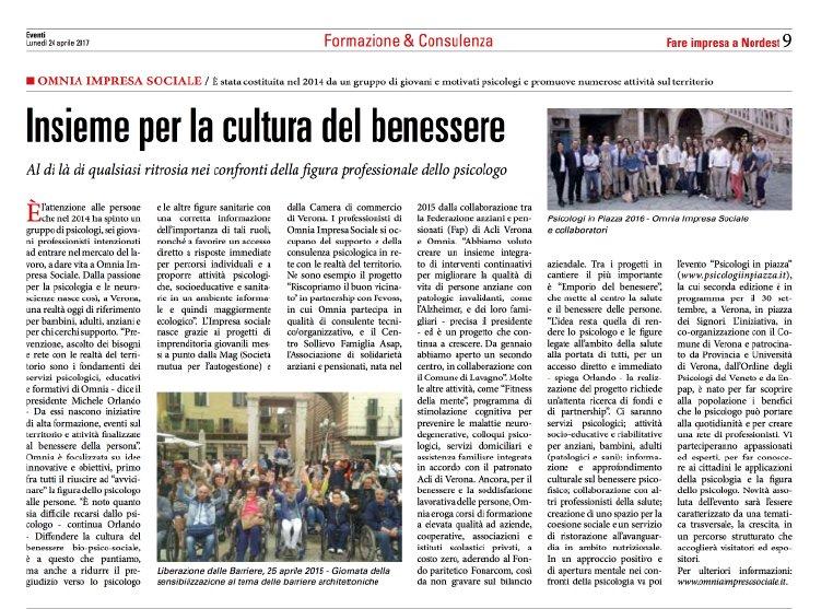 Psicologi in Piazza 2017 Verona Sole 24ORE