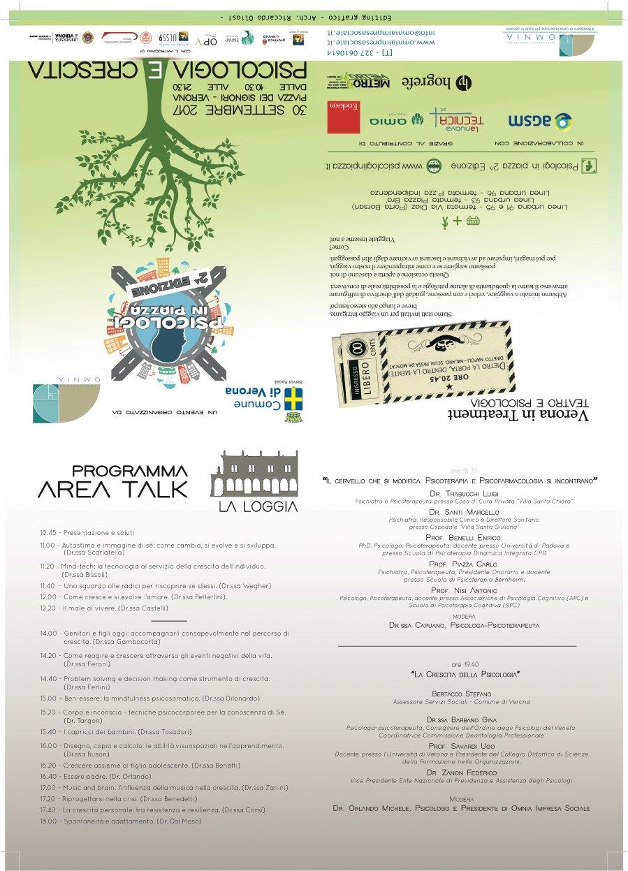 Psicologi in Piazza Verona 2017 Brochure