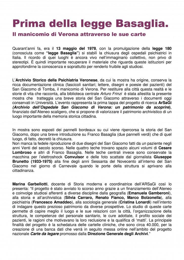 PSICOLOGI IN PIAZZA VERONA presentazione mostra