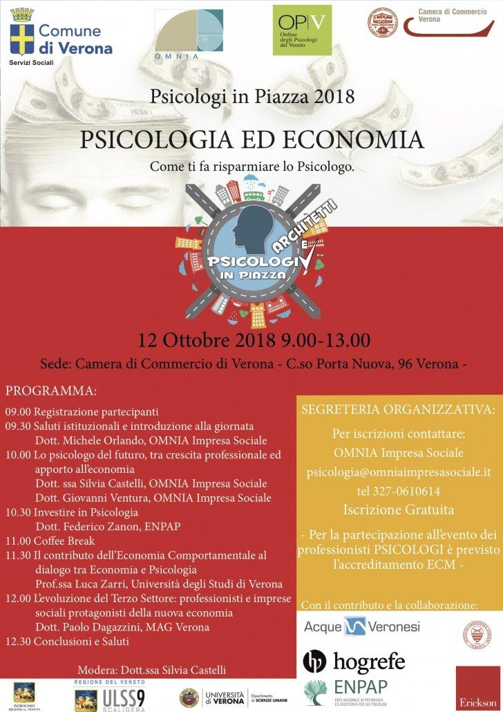 PSICOLOGI IN PIAZZA VERONA 2018PSICOLOGIA ED ECONOMIA