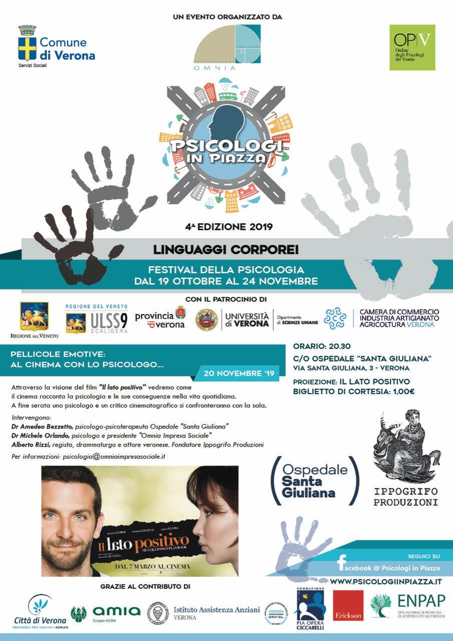 Psicologi in Piazza 2019 Verona Omnia Impresa Sociale Pellicole Emotive